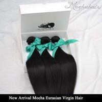 "Grade 6A Unprocessed 2pcs/lot 10""-28inch"", 100 % Virgin Eurasian Hair, Straight Hair Extensions Virgin Hair Weave Natural Color"