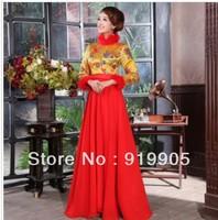 Free shipping 2013 new fashion Long-sleeved wedding dress