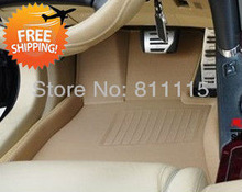 Free shipping car foot mat for Skoda Fabia step mat, auto foot mat , left-steering ONLY! 3 Color Car Floor Mat(China (Mainland))