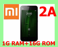 NEWEST Original XIAOMI 2A Phone Dual Core 1.7Ghz NFC HiFi 1G+16G WCDMA 3G MIUI V5 Phone 4.5' 1280*720 8MP Camera
