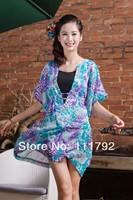 Free Shipping 2013 foreign trade fashion chiffon dress sexy V neck chiffon batwing coat