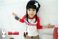 retail age 3-7 2013 new kids clothes  British flag boys girl long sleeves Children clothing t shirt  children's t-shirt