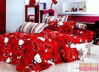 4pc hello kitty comforter set cartoon kids bedding mickey minnie mouse bedding