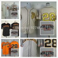 New Baseball Jerseys SF/san francisco  Giants 28 buster posey Alternate baseball Jersey  Mix Order