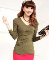 Free Shipping 2014 Autumn Women's Autumn Classic Sweater Basic Shirt  1080