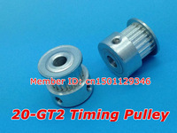 Free shipping Alumium 20 teeth GT2 Timing pulley Bore 5mm for 3D printer 5pcs/pack