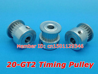 30pcs/pack GT2 Timing pulley 20teeth Bore 5mm 2GT belt width 6mm Positioning Accuracy