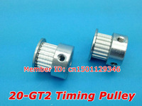 Hot Sale GT2 pulley 20teeth Bore 5mm belt width 6mm 2GT Tming pulley Free shipping