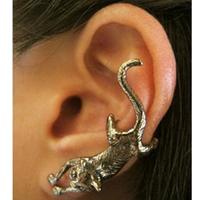 #128 Free shipping Retro Punk Exaggerated Animal Cat  Wrap Ear Cuff Earrring 2014 New Free Shipping 24pcs/lot