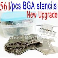 Free shipping New Upgrade 561pcs/set Bga Stencil Bga Reballing Stencil Kit with direct heating reballing station Replace 545/pcs