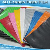 SINO CAR STICKER 1.52x10M 5FTx32.8FT Free Shipping 4D Carbon Fiber Vinyl Film For Car Body/4D Carbon Fiber Wrapping Sticker