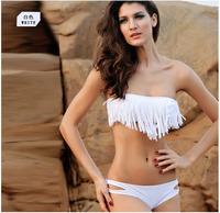 Free Shipping Hot Sale Promotion Sexy Bikini Fashion Lady Swimwear Sexy Women Fringe Tassel Swimsuit Beach Wear