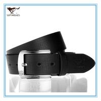 2013 New Certified Belt  Genuine Leather Pin Buckle Belt  Free Size  Cowskin Split Leather Men Waist Belt Alloy Buckle 7A1206200