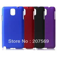 For Samsung Galaxy Note3 Plastic Case,Rubber Hard Back Case For Samsung Galaxy Note 3 N9000 Free Shipping