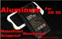 Waterproof Aluminum Metal Case For iphone 5 5S 4S 4, Free Shipping, A0218