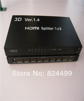 New arrival ! 1080P 3D HDMI Splitter 1x8 1 in 8 out HDMI Splitter