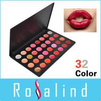 Rosalind FREE SHIPPING ! Best Multicolor Makeup 32 Colors Professional Glitter Lipstick  Palette Online Lipstick