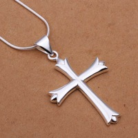 Hot Sale!!Free Shipping 925 Silver Necklace,Fashion Sterling Silver Jewelry Cross Necklace SMTN290