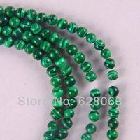 """4MM Green Malachite Round Loose Beads 15.5"""" Jewelry Making Free Shipping B001"""