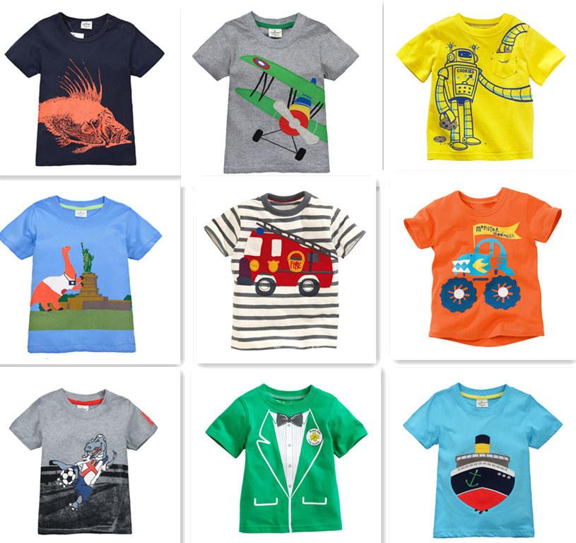 Retail Brand 2014 New Children's T-shirt Kids Baby boys Clothing Childrens Summer Clothes Cartoon T shirts Dinosaur Shark Car(China (Mainland))