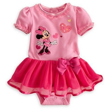 New Fashion baby romper dress Mickey Mouse/kid girl bodysuits jumpsuits shortsleeve summer Wholesael and Retail Honey Baby HB140
