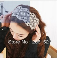 fashion girls wide lace headband  wholesale lace headbands for adults  12pcs/lot  free shipping