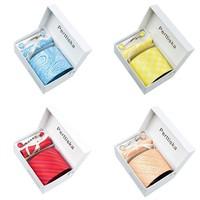 Fashion neckties Hot selling Wholesale New 2014 Tie+ Cufflink + Tie clip +Hankie+Gift Box  for Men 8.5cm Tie Set Free Shipping