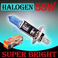 2pcs H1 Super Bright White Fog Halogen Bulb 55W Car Head Light Lamp with Retail Box car styling car light source parking