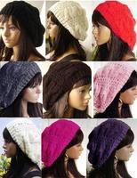 2015 Women Lady Beret Braided Baggy Beanie Crochet Hat Ski Cap Fashion 9 color for choose