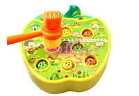 Electric whack a mole music  machine,badger bash,kid's toys,puzzle game toys,with nice retail box,free shipping