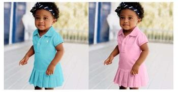 2013 retail girl's fashion tennis dress baby girls polo top dresses kids sport lapel wear children princess dress free shipping