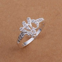 Free Shipping Wholesale 925 Sterling Silver Ring,925 Silver Fashion Jewelry,Austria Crystal Fashion Ring SMTR200
