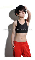 2013 New black white gray Hook & Loop short flat chest bustier, Velcro summer breast binder for Lesbian Tomboy size XS-3XL
