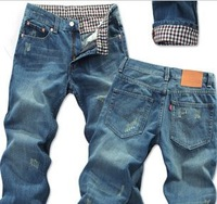 high quality Jeans washed pants hot selling New 2013 fashion men's trousers free shipping casual big size male designer