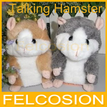 Russia English Speaking talking Hamster plush toy,hamster Talking Animal repeat words any language 2 color