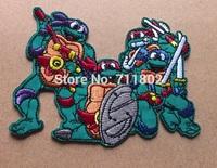 SaleTeenage Mutant Ninja Turtles Michelangelo Computer embroidered embroidery fabric 100pcs/lot wholesale Free shipping