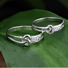 Wholesale Free Ship 925 Sterling Silver Engagement Promise Love Heart Ring Wedding Rings for Men and