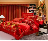 Chinese dragon comforter bedding sets king size home textile romantic bedspread queen sheets for bed