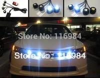 Super Bright 4 pieces x 1.5W High Power Eagle Eye LED Strobe Flash Knight Rider Lighting Kit + Wireless Remote Control