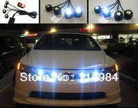 Super Bright 4 pieces x 1.5W High Power Eagle Eye LED Strobe Flash Knight Rider Lighting Kit + Wireless Remote Control