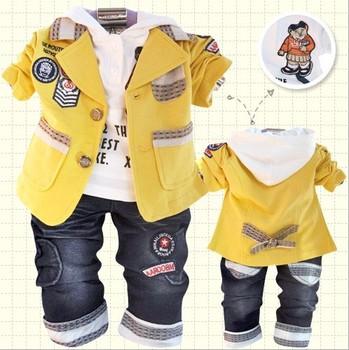 TZ148,Freeshipping,2013 hot sale baby clothing set cartoon boys 3 pcs suit t Autumn infant wear Wholesale and retail
