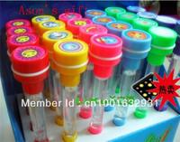 Freeshipping Stamp/blowing bubble pen/ light pen stamp bubble light emitting three-in ballpoint pen 5pcs/lot
