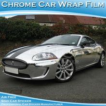 SINO CAR STICKER 1.52x15m Free Shipping Air Free Chrome Mirror Car Body Wrap Vinyl Chrome Stikcer(China (Mainland))