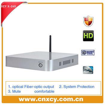 mini itx case htpc, zero client, atom D2550 mini motherboard, DDR3 2gb RAM,16gb SSD
