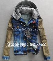 New In 2014 Men'S Outdoor Jacket Purchasing Trend Of Korean Fashion Hooded Denim Jacket Size: M - L - XL - XXL