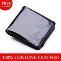2013 New 100% Genuine leather wallet men Hot fashion designer Gift for man purse cowskin Zipper Coin Wallet wholesale