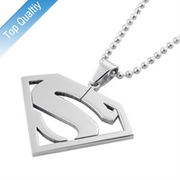 superman pendant necklace stainless steel pendant  classic jewelry   hight quality PN-002
