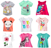brand 2013 new fashion kids baby girl clothing childrens clothes 100%cotton blouse cute animal cartoon t shirts(China (Mainland))
