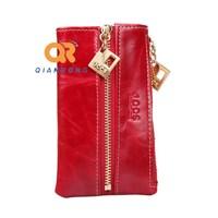 Hot Men&Women's short key bag wallet Genuine Leather Key Chain Holder colorful Cowhide zipper Coin Purses