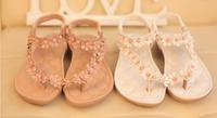 Flat open toe women sandals sapatos femininos sandalias rasteiras Bohemian Floral women sandalias sapatilhas femininos 2014 BW7
